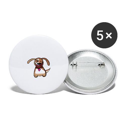 Titou le chien - Lot de 5 petits badges (25 mm)