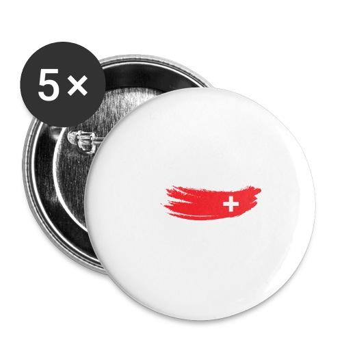 Flag Switzerland - Paquete de 5 chapas pequeñas (25 mm)
