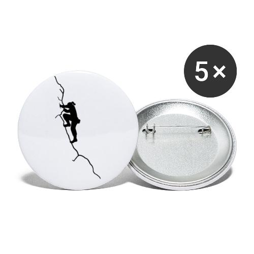 Kletter-Girl, schwarz, 4 - Buttons klein 25 mm (5er Pack)