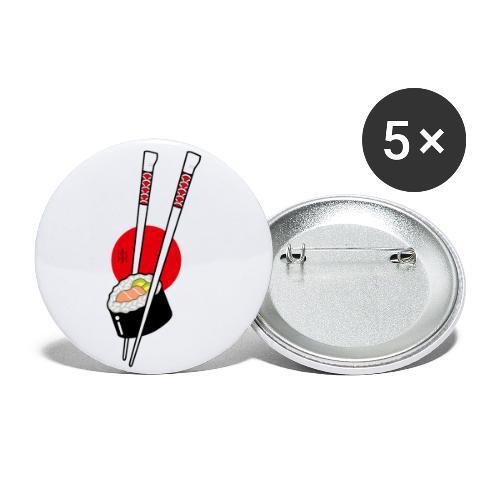 Sushi - Confezione da 5 spille piccole (25 mm)