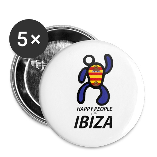 Happy People of Ibiza - Buttons klein 25 mm