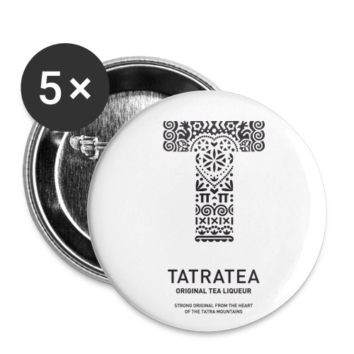 TATRATEA LOGO black - Buttons klein 25 mm (5er Pack)