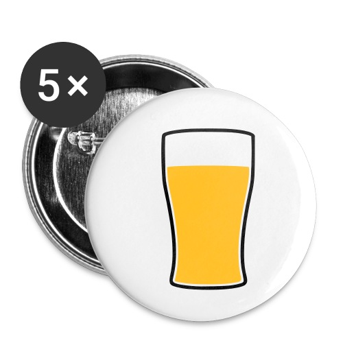 Bier! - Buttons klein 25 mm (5er Pack)
