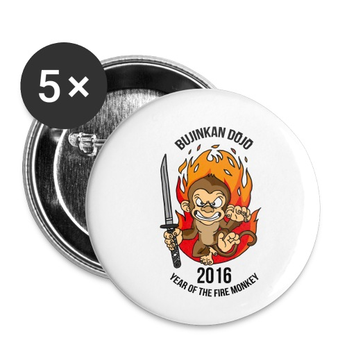 Fire monkey - Buttons small 1''/25 mm (5-pack)