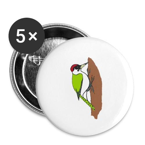 pivert - Lot de 5 petits badges (25 mm)