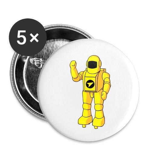 Astronauta de TENTE - Paquete de 5 chapas pequeñas (25 mm)