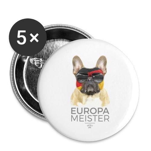 Europameister Deutschland - Buttons klein 25 mm (5er Pack)