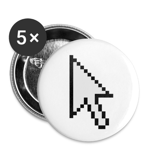 Mouse Arrow - Buttons klein 25 mm (5-pack)