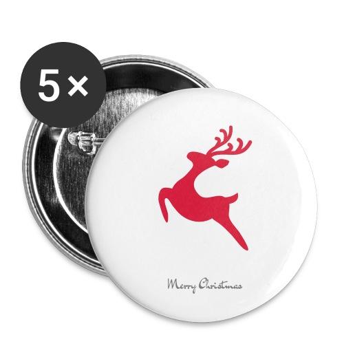 Caribou 8, Merry Christma - Lot de 5 petits badges (25 mm)