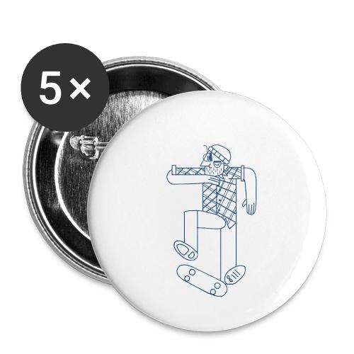 skater - Lot de 5 petits badges (25 mm)