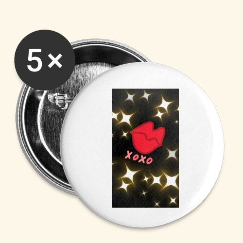 XOXO - Buttons klein 25 mm (5er Pack)