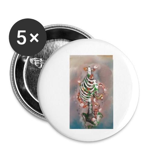 scheletrokoi - Confezione da 5 spille piccole (25 mm)