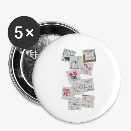 Drawings - Buttons small 1''/25 mm (5-pack)