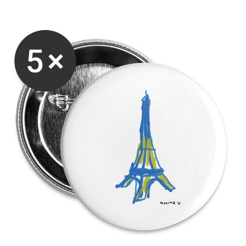Tour Eiffel Maxime V. - Lot de 5 petits badges (25 mm)