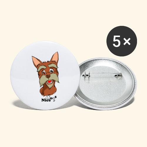 Nice Dogs schnauzer - Confezione da 5 spille piccole (25 mm)