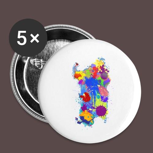 Sardegna Silhouette Paint - Confezione da 5 spille piccole (25 mm)