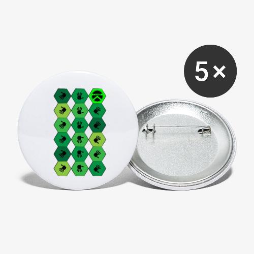  K·CLOTHES  HEXAGON ESSENCE GREENS - Paquete de 5 chapas pequeñas (25 mm)
