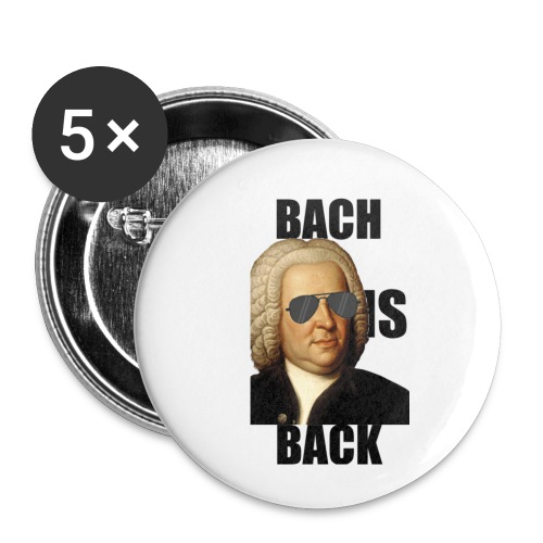 Bach is back - Lot de 5 petits badges (25 mm)