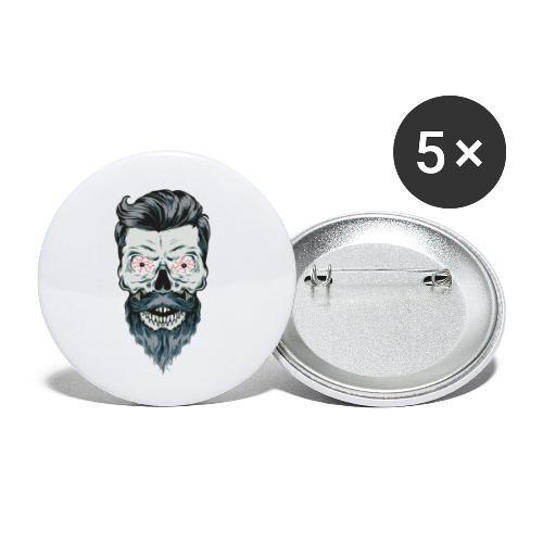 mort barbu - Lot de 5 petits badges (25 mm)