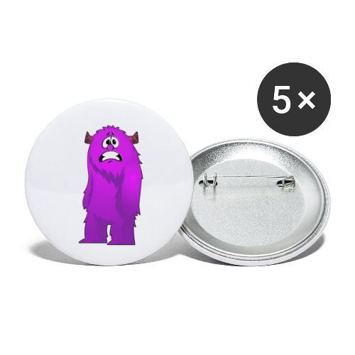 Lila Monster 10 - Buttons klein 25 mm (5er Pack)