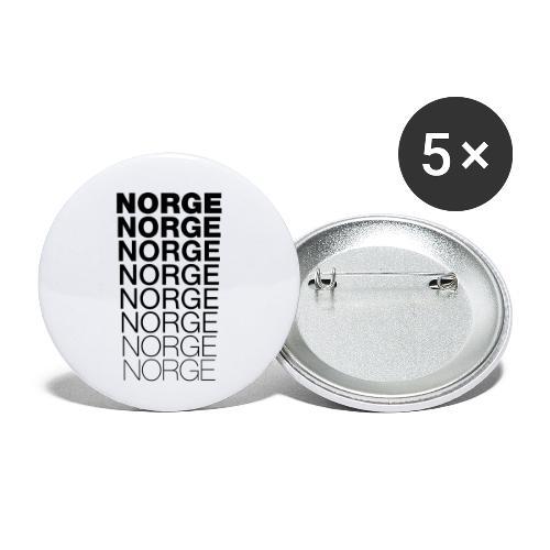 Norge Norge Norge Norge Norge Norge - Liten pin 25 mm (5-er pakke)