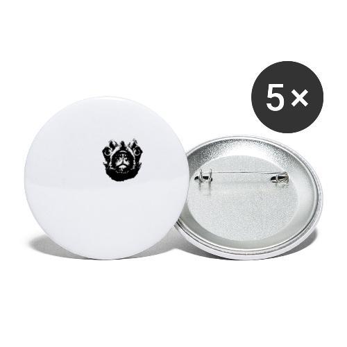 Mops Hund Hunde Möpse Geschenk - Buttons klein 25 mm (5er Pack)