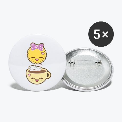 LD Colazione Kawaii - Confezione da 5 spille piccole (25 mm)