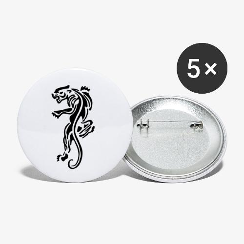 panther wild animals patjila - Buttons small 1''/25 mm (5-pack)