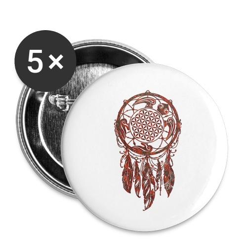 Blume des Lebens Traumfänger Schildkröte - Buttons klein 25 mm (5er Pack)
