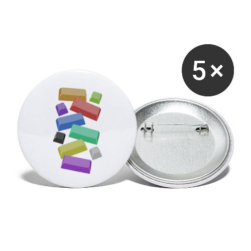 SA Mechanical Keyboard Keycaps Motif - Buttons small 1''/25 mm (5-pack)