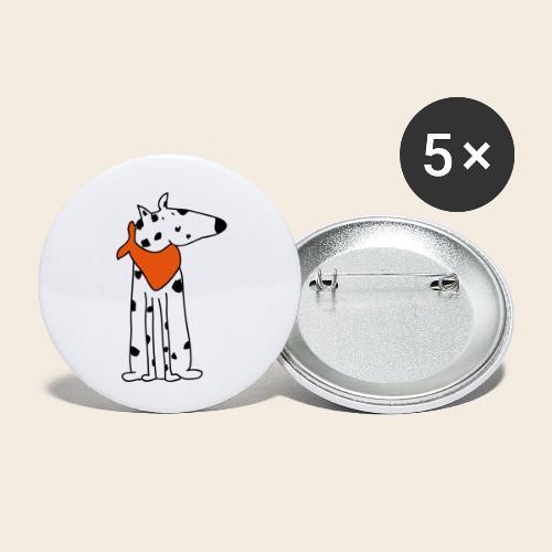 mignon dalmatien - Lot de 5 petits badges (25 mm)