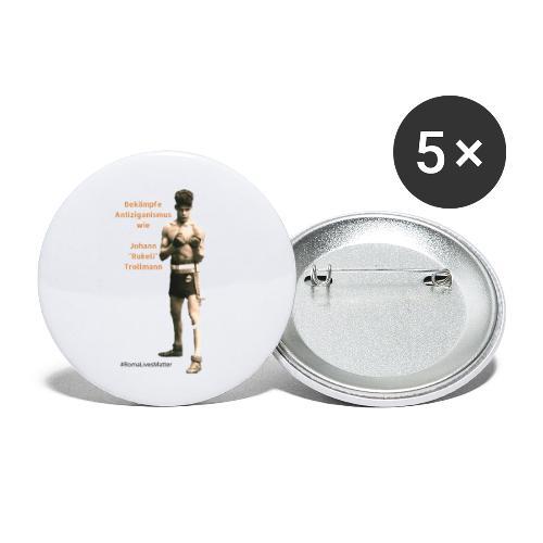 Bekämpfe Antiziganismus Johann Rukeli Trollmann - Buttons klein 25 mm (5er Pack)