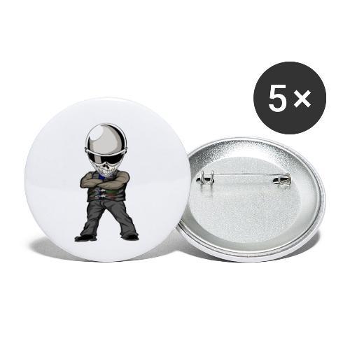Böser Streetfighter - Buttons klein 25 mm (5er Pack)