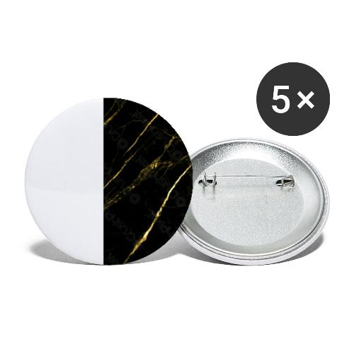 Gold marble - Buttons klein 25 mm (5-pack)