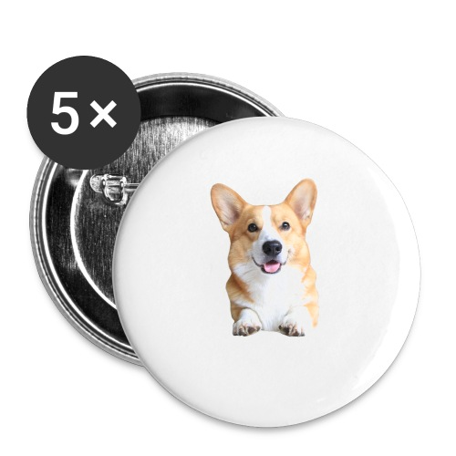 Topi the Corgi - Frontview - Buttons small 1''/25 mm (5-pack)