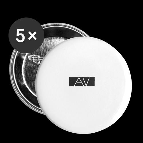 AV White - Buttons small 1''/25 mm (5-pack)