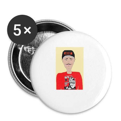 French skater DJ AM - Små knappar 25 mm (5-pack)