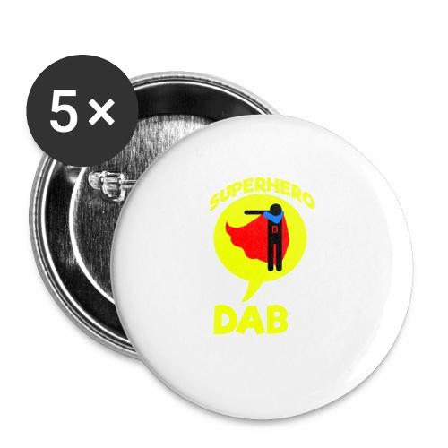 Dab supereroe/ Dab Superhero - Confezione da 5 spille piccole (25 mm)