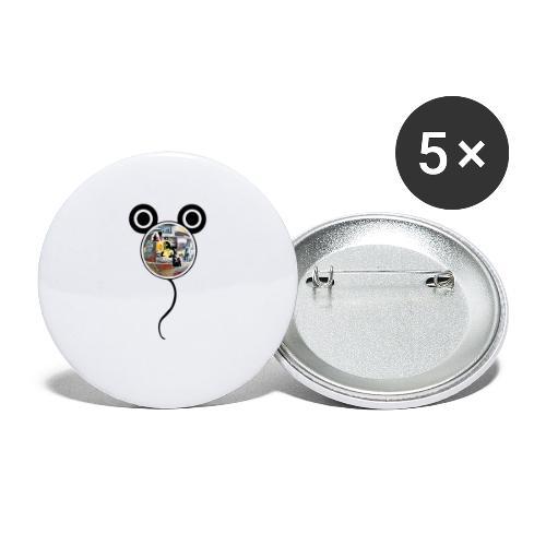 BD Mouse - Lot de 5 petits badges (25 mm)