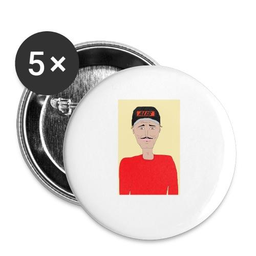 DJ , new shirt - Små knappar 25 mm (5-pack)