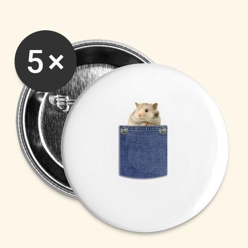hamster in the poket - Confezione da 5 spille piccole (25 mm)