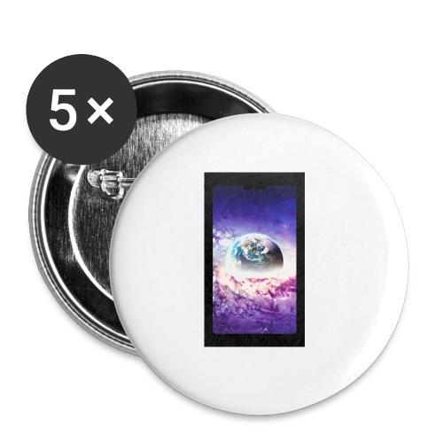 Univers - Lot de 5 petits badges (25 mm)