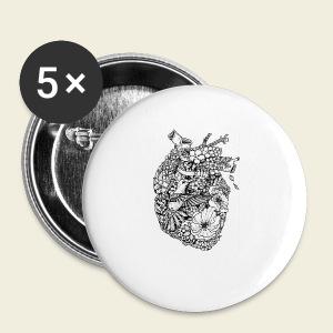 Kolibri Herz - Buttons klein 25 mm