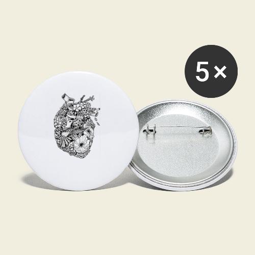 Kolibri Herz - Buttons klein 25 mm (5er Pack)