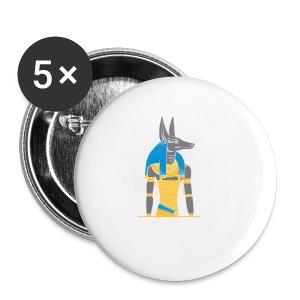 Der altägyptische Gott Anubis - Buttons klein 25 mm
