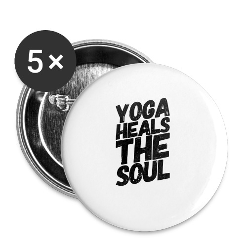 yoga heals the soul - Buttons klein 25 mm (5-pack)