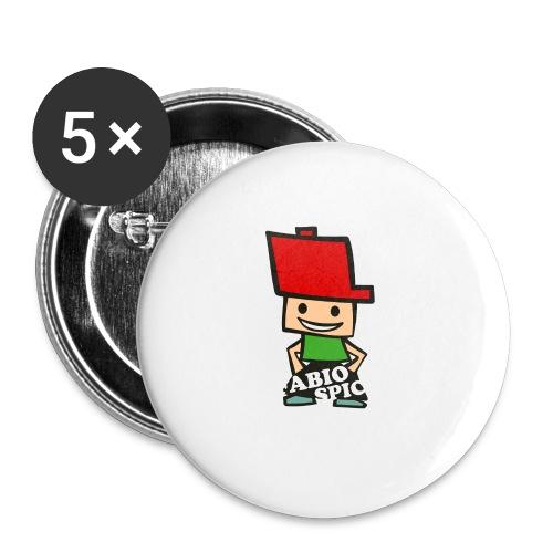 Fabio Spick - Buttons klein 25 mm (5er Pack)