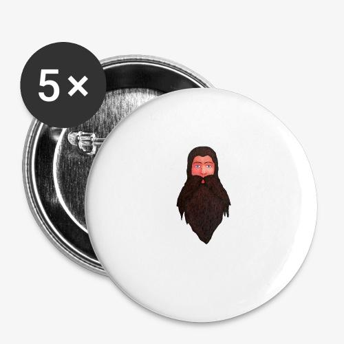 Tête de nain - Lot de 5 petits badges (25 mm)