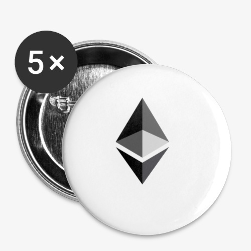 HODL-ethbig-b - Buttons small 1''/25 mm (5-pack)