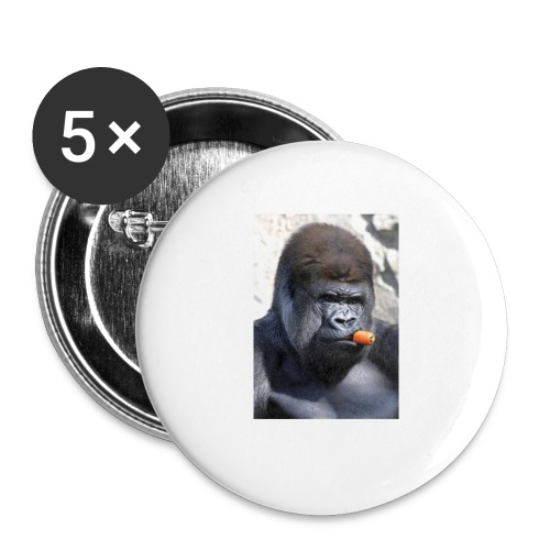 singe - Lot de 5 petits badges (25 mm)